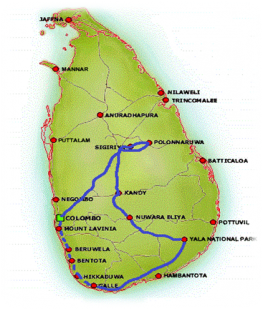 Unforgettable Sri Lanka - Map